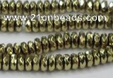 CHE739 15.5 inches 4*8mm faceted rondelle plated hematite beads