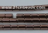 CHE747 15.5 inches 3*5mm tube plated hematite beads wholesale