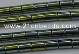 CHE769 15.5 inches 3*5mm tube plated hematite beads wholesale