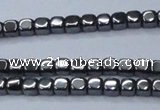 CHE817 15.5 inches 2*2mm dice hematite beads wholesale