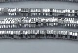 CHE825 15.5 inches 1*2mm hexagon plated hematite beads wholesale