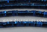 CHE831 15.5 inches 1*2mm hexagon plated hematite beads wholesale