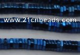 CHE847 15.5 inches 1*4mm hexagon plated hematite beads wholesale