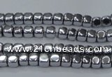 CHE850 15.5 inches 2*2mm dice platedhematite beads wholesale