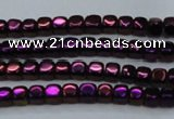CHE853 15.5 inches 2*2mm dice platedhematite beads wholesale