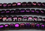 CHE870 15.5 inches 4*4mm dice platedhematite beads wholesale