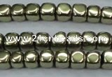 CHE875 15.5 inches 2*2mm dice plated hematite beads wholesale