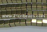 CHE880 15.5 inches 3*3mm cube plated hematite beads wholesale