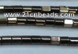 CHE887 15.5 inches 2*2mm faceted tube plated hematite beads wholesale