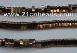 CHE919 15.5 inches 1*3mm triangle plated hematite beads wholesale