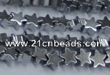 CHE945 15.5 inches 6mm star plated hematite beads wholesale