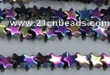 CHE949 15.5 inches 6mm star plated hematite beads wholesale