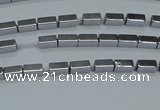 CHE954 15.5 inches 2*4mm cuboid plated hematite beads wholesale