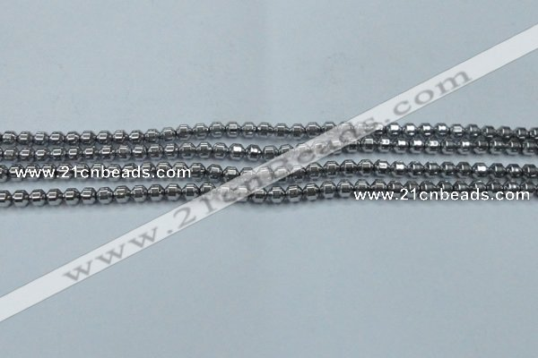 CHE972 15.5 inches 4*4mm plated hematite beads wholesale