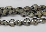 CHG03 15.5 inches 8*8mm heart dalmatian jasper beads wholesale