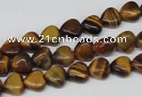 CHG05 15.5 inches 8*8mm heart yellow tiger eye beads wholesale