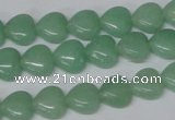 CHG10 15.5 inches 10*10mm heart amazonite gemstone beads wholesale