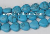 CHG15 15.5 inches 10*10mm heart turquoise gemstone beads wholesale
