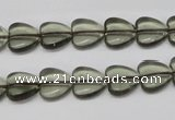 CHG18 15.5 inches 10*10mm heart synthetic smoky quartz beads wholesale