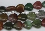 CHG24 15.5 inches 10*10mm heart Indian aventurine beads wholesale