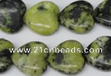 CHG72 15.5 inches 18*18mm heart yellow turquoise beads wholesale
