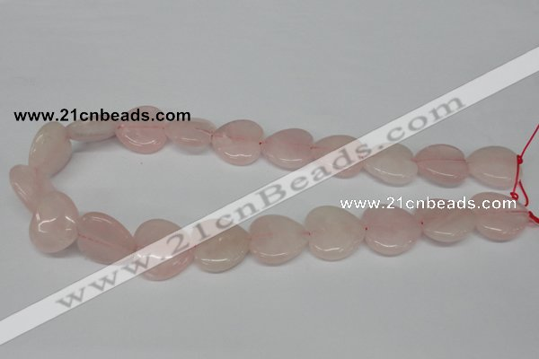 CHG80 15.5 inches 20*20mm heart rose quartz beads wholesale
