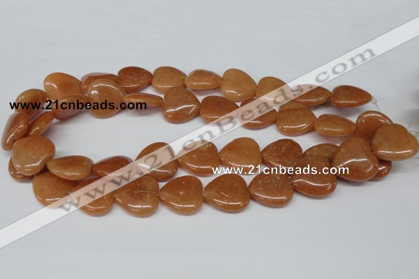 CHG81 15.5 inches 20*20mm heart red aventurine beads wholesale