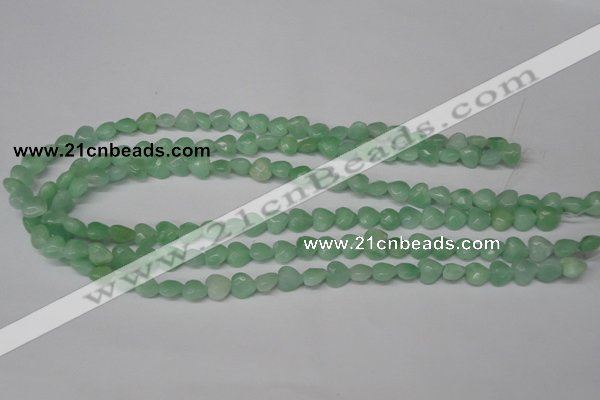 CHG90 15.5 inches 8*8mm faceted heart amazonite beads wholesale