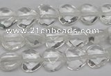 CHG92 15.5 inches 10*10mm faceted heart white crystal beads wholesale