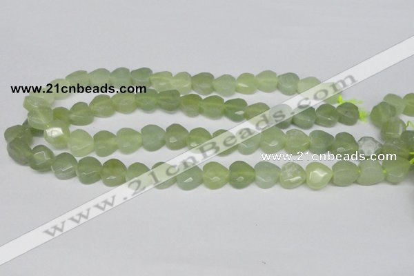 CHG93 15.5 inches 12*12mm faceted heart New jade beads wholesale