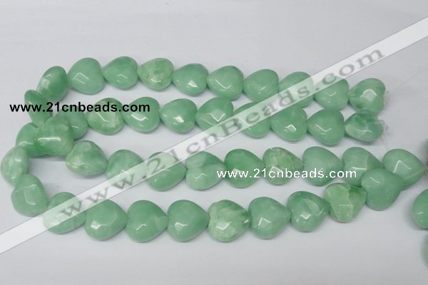 CHG95 15.5 inches 18*18mm faceted heart amazonite beads wholesale