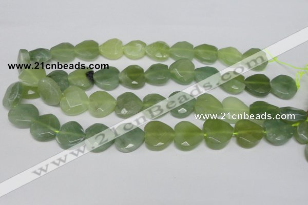 CHG96 15.5 inches 18*18mm faceted heart New jade beads wholesale