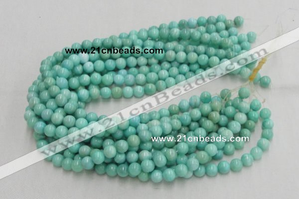 CHM01 16 inches 10mm round pale blue hemimorphite beads wholesale