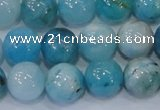 CHM204 15.5 inches 12mm round blue hemimorphite beads wholesale