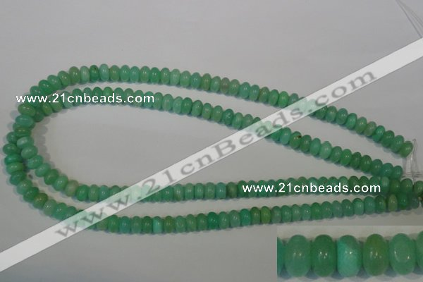 CHM22 15.5 inches 5*8mm rondelle green hemimorphite beads