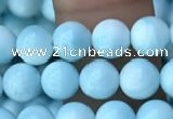 CHM301 15.5 inches 6mm round blue hemimorphite gemstone beads