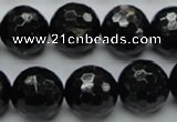 CHS06 15.5 inches 16mm faceted round natural hypersthene gemstone beads