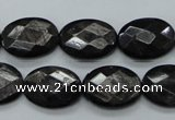 CHS07 15.5 inches 13*18mm faceted oval natural hypersthene gemstone beads