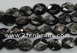 CHS11 15.5 inches 8*10mm faceted oval natural hypersthene beads