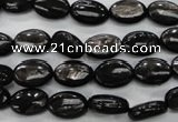 CHS70 15.5 inches 8*12mm oval natural hypersthene beads