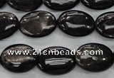 CHS73 15.5 inches 13*18mm oval natural hypersthene beads