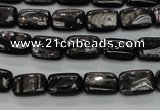 CHS88 15.5 inches 8*12mm rectangle natural hypersthene beads