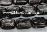 CHS91 15.5 inches 13*18mm rectangle natural hypersthene beads