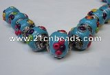 CIB152 21mm round fashion Indonesia jewelry beads wholesale