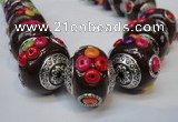 CIB153 21mm round fashion Indonesia jewelry beads wholesale