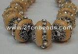 CIB272 14*16mm rondelle fashion Indonesia jewelry beads wholesale
