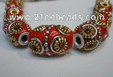 CIB296 14*22mm drum fashion Indonesia jewelry beads wholesale