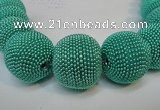 CIB419 30mm round fashion Indonesia jewelry beads wholesale