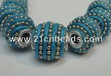 CIB473 14*14mm drum fashion Indonesia jewelry beads wholesale
