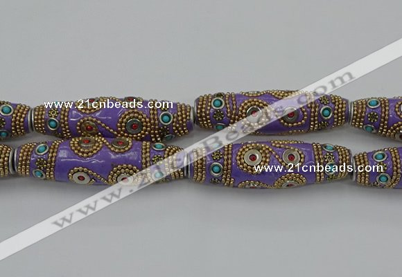 CIB665 16*60mm rice fashion Indonesia jewelry beads wholesale